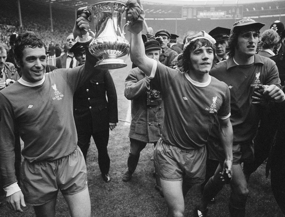 Photograph of Liverpool FC winning the FA Cup