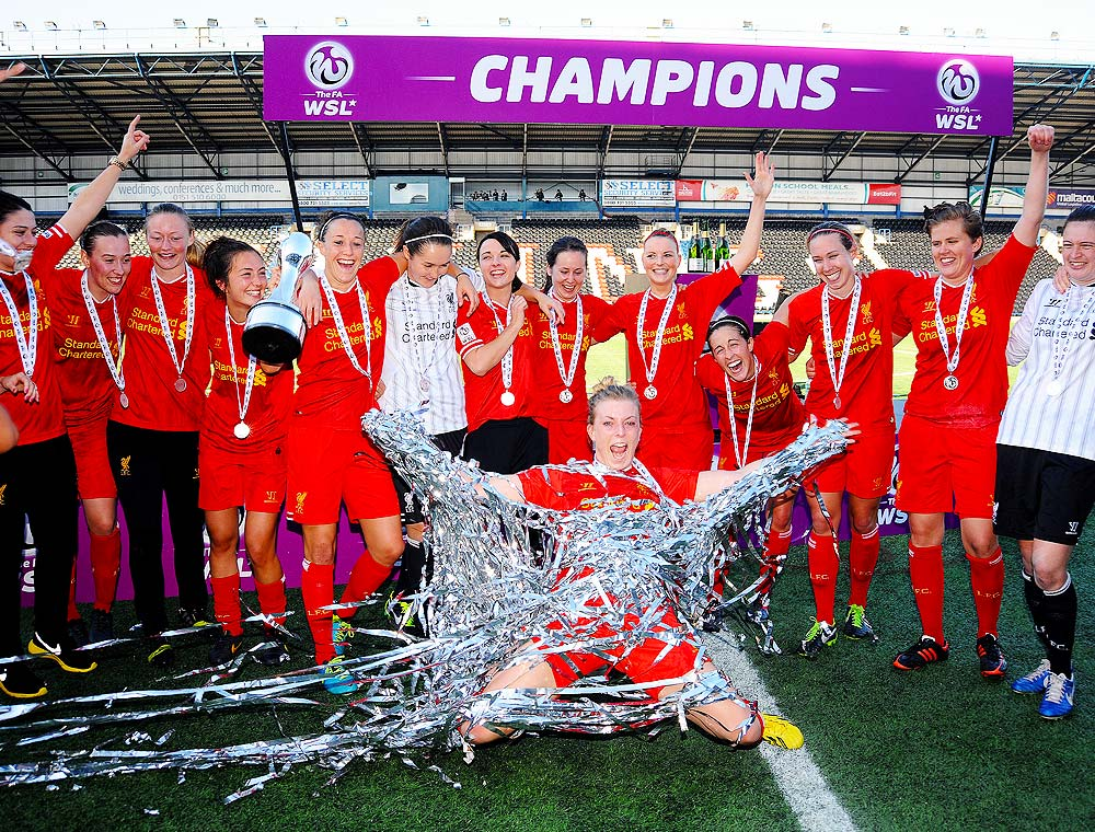 Photograph of Liverpool Women FC FA WSL Winners
